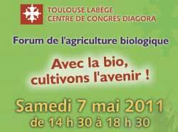 forum de l'agriculture biologique - Toulouse 2011