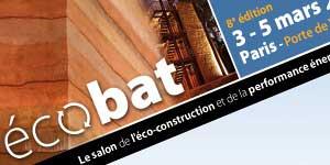 salon écobat, le salon de l'éco-construction et de la performance énergétique