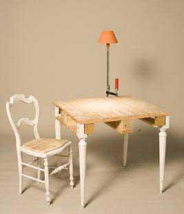 table chaise palette