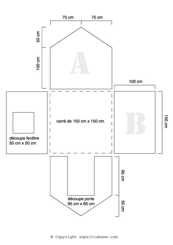 Une cabane pour enfant esprit cabane idees creatives et ecologiques - Patron de maison en papier a imprimer ...