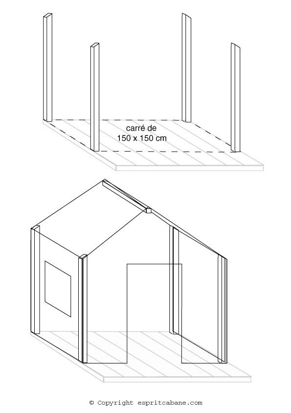 Une cabane pour enfant esprit cabane idees creatives et for Plans de cabanes en bois