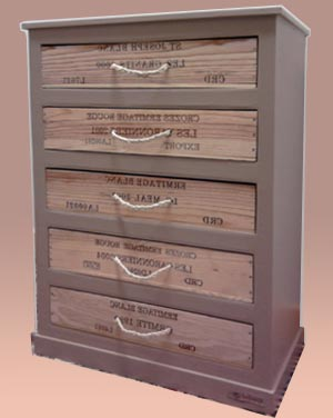 chiffonnier en carton et en bois esprit cabane idees creatives et ecologiques. Black Bedroom Furniture Sets. Home Design Ideas