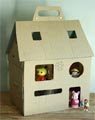 maison poupées en carton