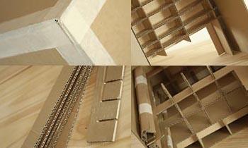 Table de chevet en carton esprit cabane idees creatives for Tutoriel meuble en carton