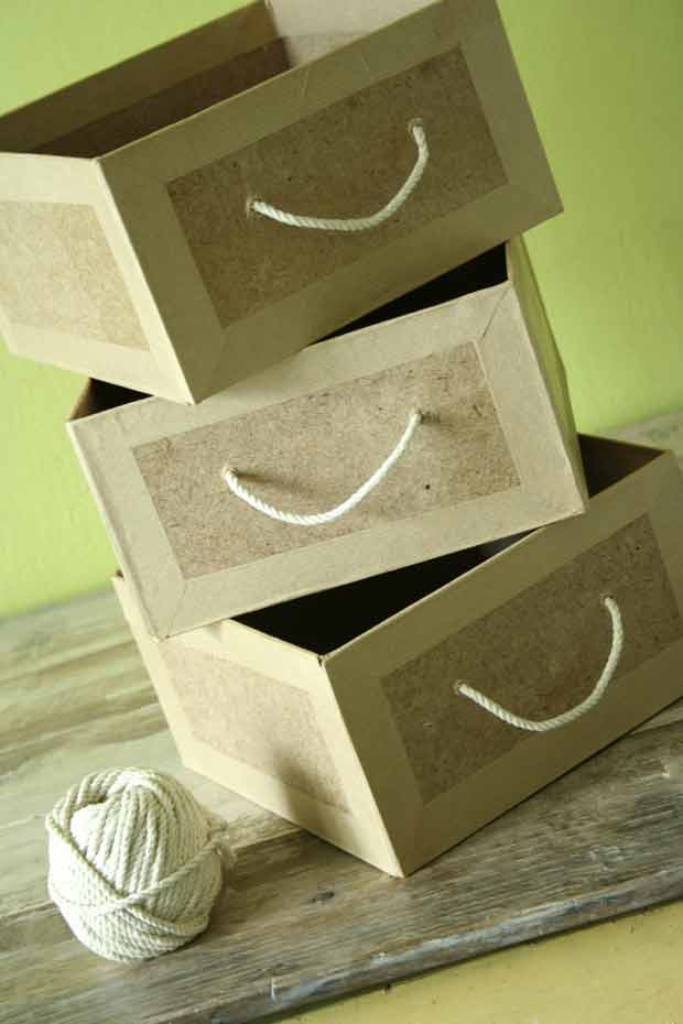 tuto tiroirs carton. Black Bedroom Furniture Sets. Home Design Ideas