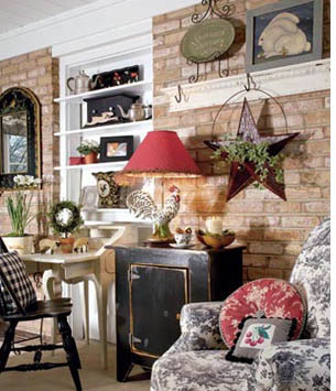 le style country esprit cabane idees creatives et. Black Bedroom Furniture Sets. Home Design Ideas