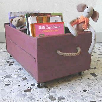 caisson bibliothèque à roulettes