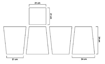 corbeille en carton esprit cabane idees creatives et. Black Bedroom Furniture Sets. Home Design Ideas