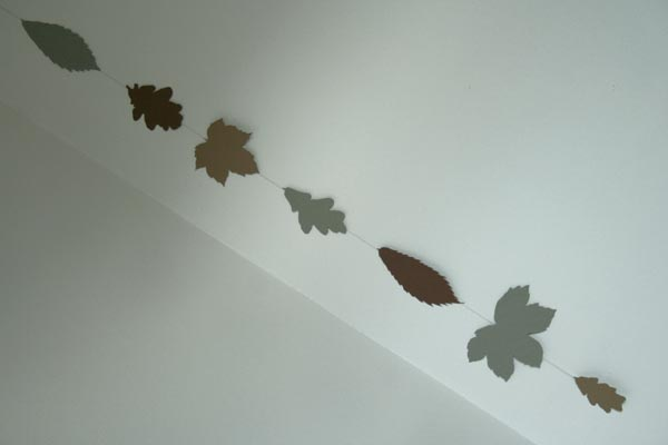 guirlande feuilles arbres