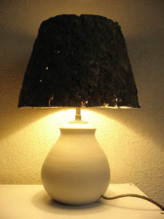 lampe papier mâché