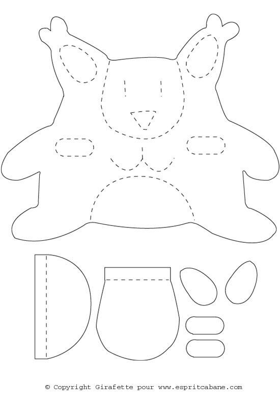 modele de doudou en couture