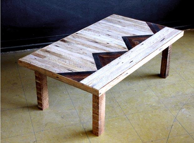 Meubles en bois recycl par ariele alasko esprit cabane for Table basse bois recycle