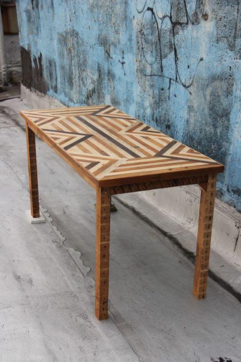 Meubles en bois recyclé par Ariele Alasko, Esprit Cabane, idees creatives et