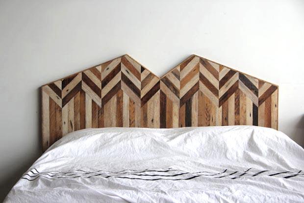 Meubles en bois recycl par ariele alasko esprit cabane idees creatives et - Tete de lit design bois ...