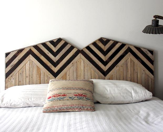 Meubles en bois recycl par ariele alasko esprit cabane idees creatives et - Tete de lit tendance ...