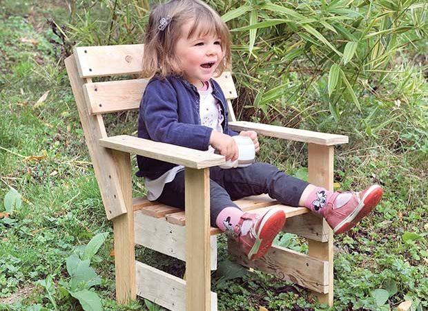 Jardin : Fauteuil enfant à fabriquer soi-même