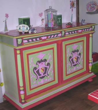 Buffet Henry II coloré