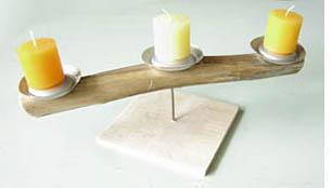 bougeoirs cr atifs en canette esprit cabane idees. Black Bedroom Furniture Sets. Home Design Ideas