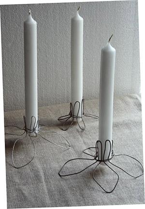 bougeoirs en fil de fer esprit cabane idees creatives et ecologiques. Black Bedroom Furniture Sets. Home Design Ideas
