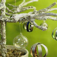Boules de Noël récup