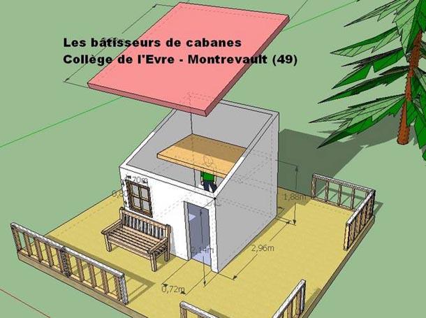 Une cabane palette construite par des coll giens esprit cabane idees creati - Construire une maison autonome ...