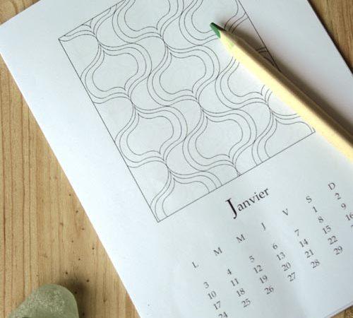 Calendrier 2011 à colorier
