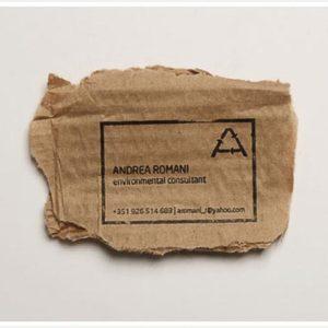 Récup : Des cartes de visite avec les déchets de bureau