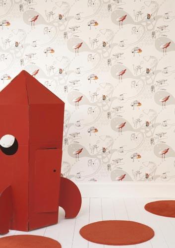 colle papier peint esprit cabane idees creatives et ecologiques. Black Bedroom Furniture Sets. Home Design Ideas