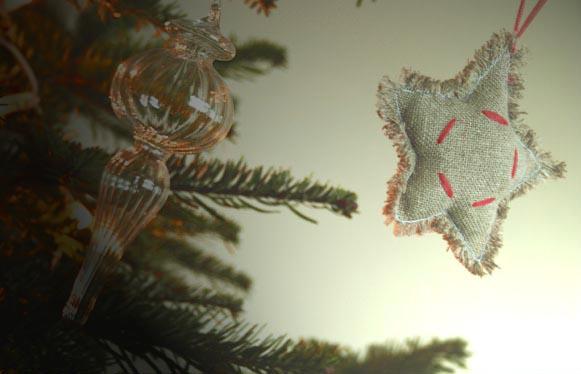 Décorations de Noël en lin