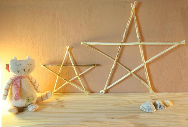 Etoiles de Noël en bois