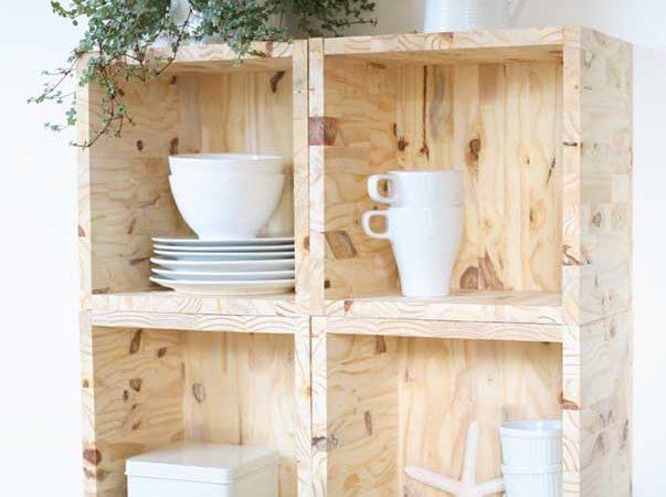 DIY : Etagères cubes en bois
