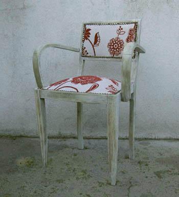 retapisser un fauteuil bridge esprit cabane idees. Black Bedroom Furniture Sets. Home Design Ideas