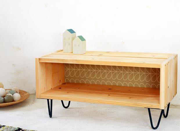Meuble TV DIY en bois massif