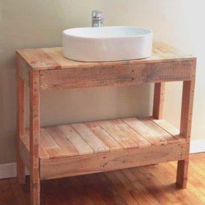 DIY : Un meuble vasque en palettes pour la salle de bains