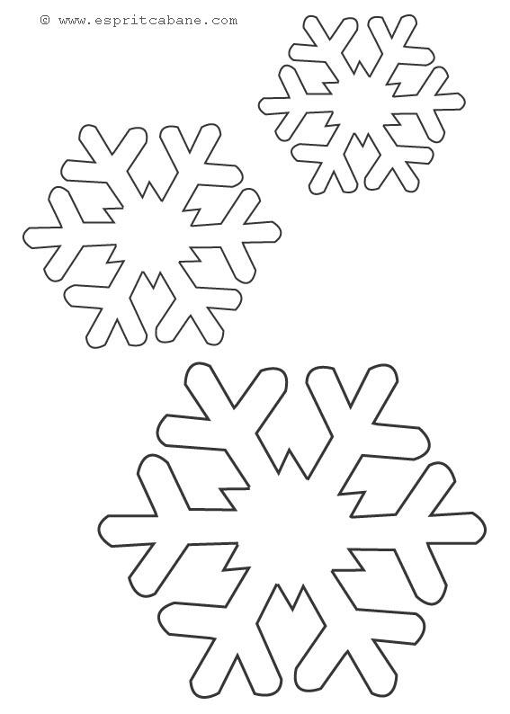Motifs de no l esprit cabane idees creatives et ecologiques - Flocons de neige en papier ...