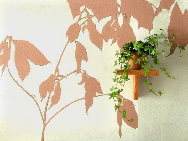 Décoration murale avec les ombres végétales