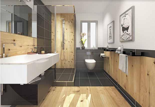 Aménagement : Du bois dans la salle de bain ?