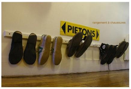 Biobos esprit cabane idees creatives et ecologiques - Porte chaussure mural ...