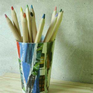 DIY : Pot à crayon en papier mâché