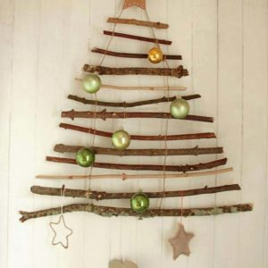 DIY : Suspension sapin de Noël en branches