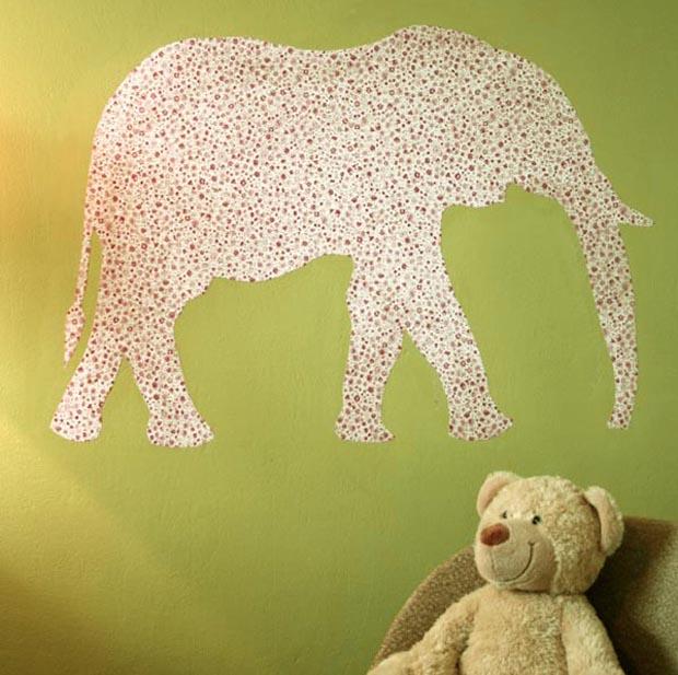 Sticker colo esprit cabane idees creatives et ecologiques - Deco papier peint moderneidees tres creatives ...