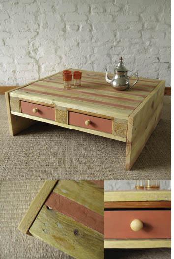 Table basse en palette esprit cabane idees creatives et ecologiques - Idees table basse palettes ...