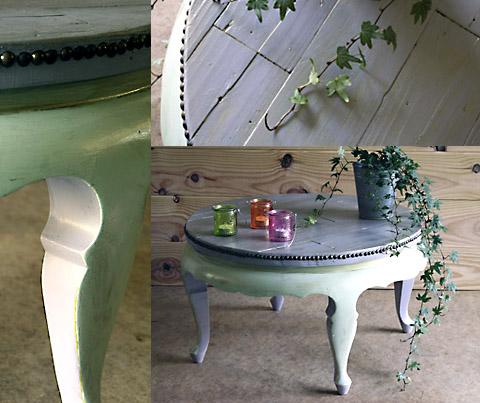 Table de salon esprit cabane idees creatives et ecologiques - Relooker une table de salon ...