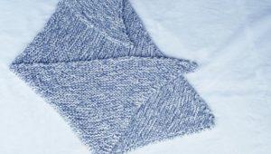 Tricot : L'écharpe châle de Melle Sophie