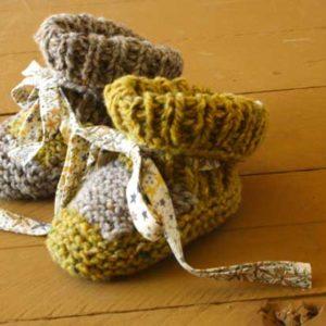 Tricot facile : Des chaussons de bébé