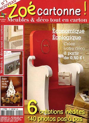 carton magazine papier en kiosque esprit cabane. Black Bedroom Furniture Sets. Home Design Ideas