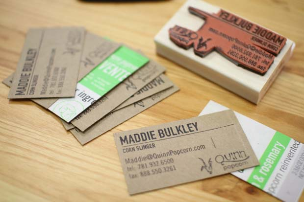 carte visite recyclee