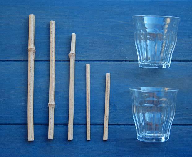 fabriquer pailles en bambou