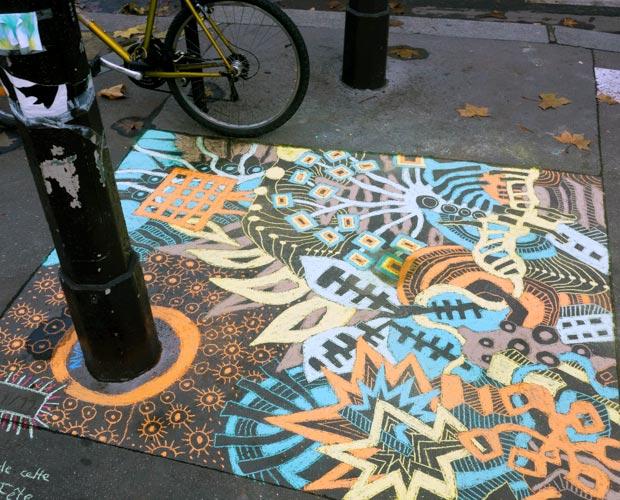 artiste craies trottoir