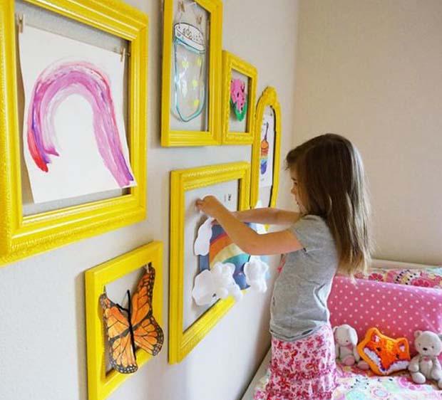 cadres pinces dessin enfant